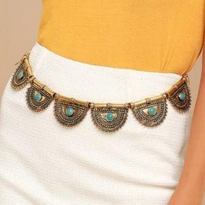 Creative culture gold chain belt